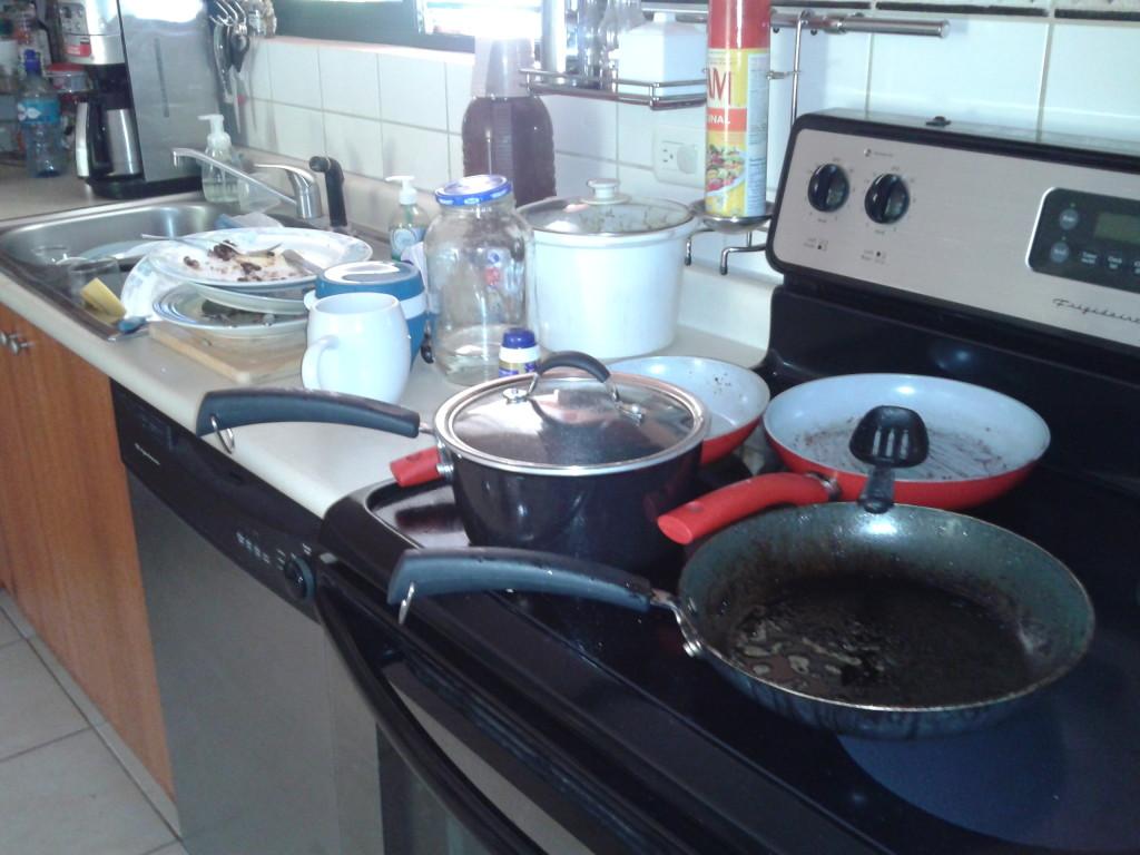 como recoger rapido la cocina