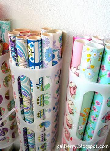como organizar papel regalo