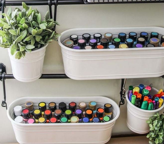 Ideas creativas para organizar materiales para - Pintura acrilica manualidades ...