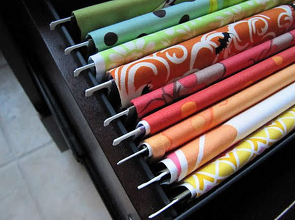 como organizar telas para quilting