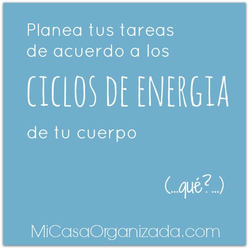 planea tus tareas de acuerdo a ciclos de energia del cuerpo