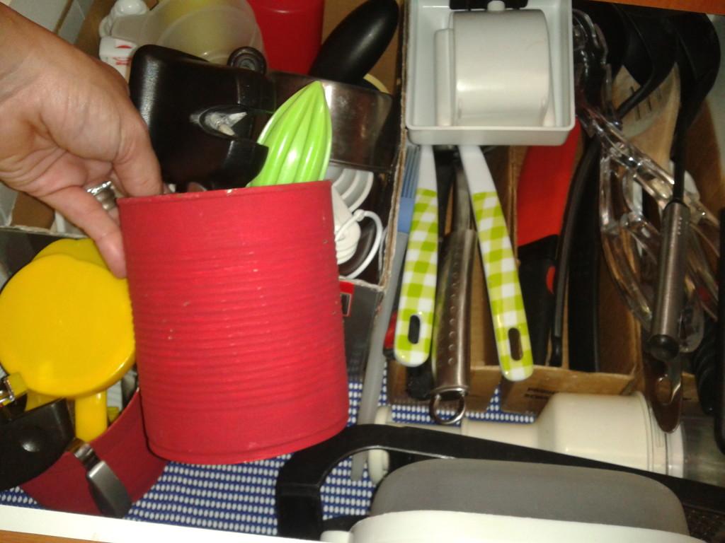 como organizar con latas