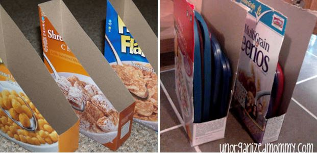 como organizar tapas de contenedores plasticos