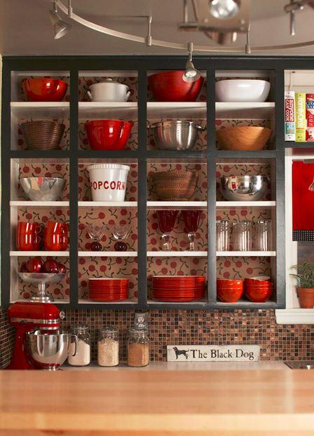Cómo Organizar Muebles De Cocina Abiertos o Con Puertas De Vidrio ...