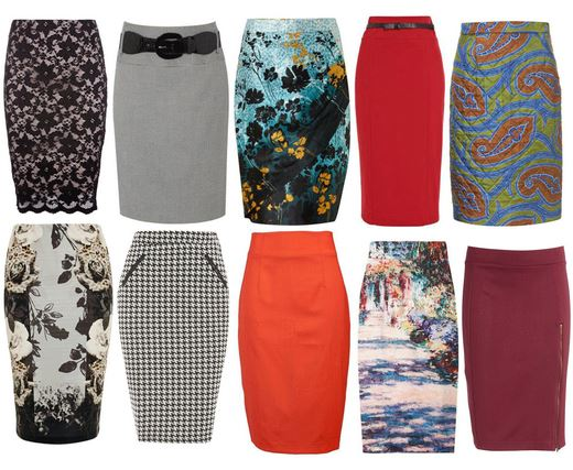 vestuario basico pencil skirt