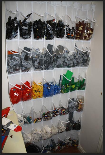 como organizar legos por color