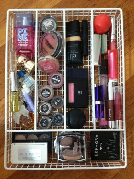 organizacion de cosmeticos