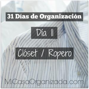 31 días de organización día 11