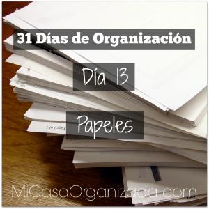 31 días de organización día 13