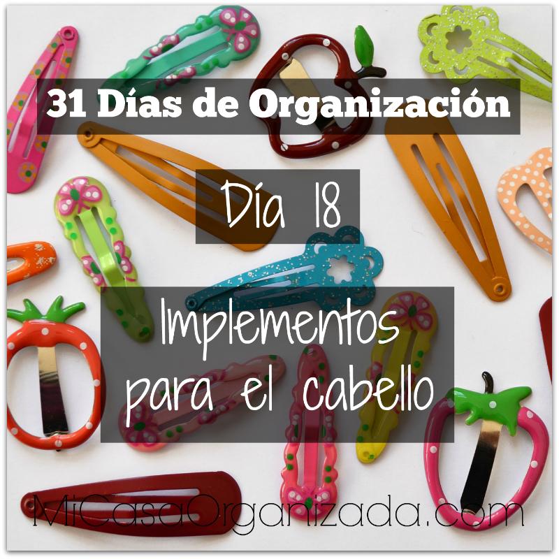 31 días de organización día 18