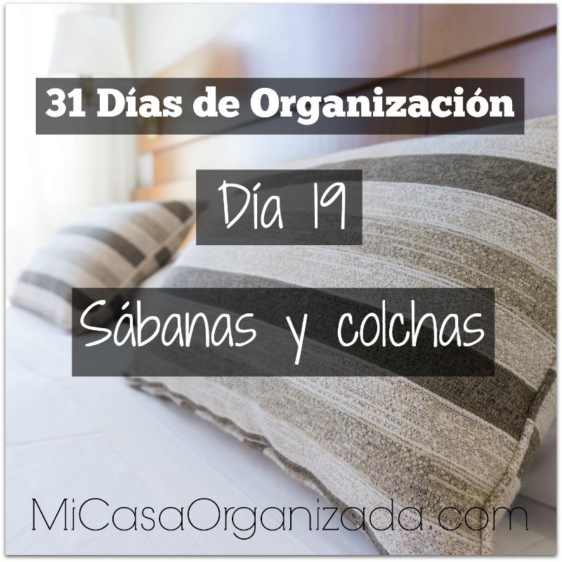 31 días de organización día 19