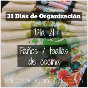 31 días de organización día 21