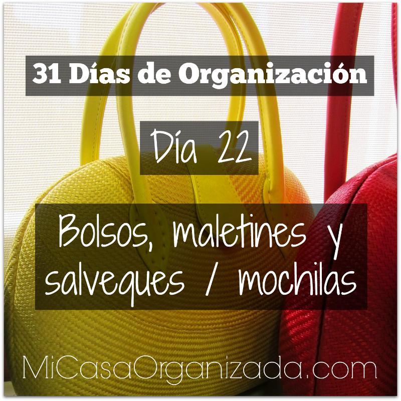 31 días de organización día 22
