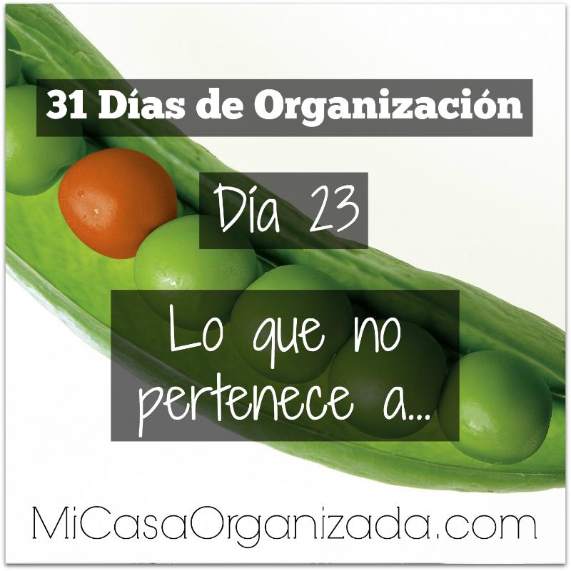 31 días de organización día 23