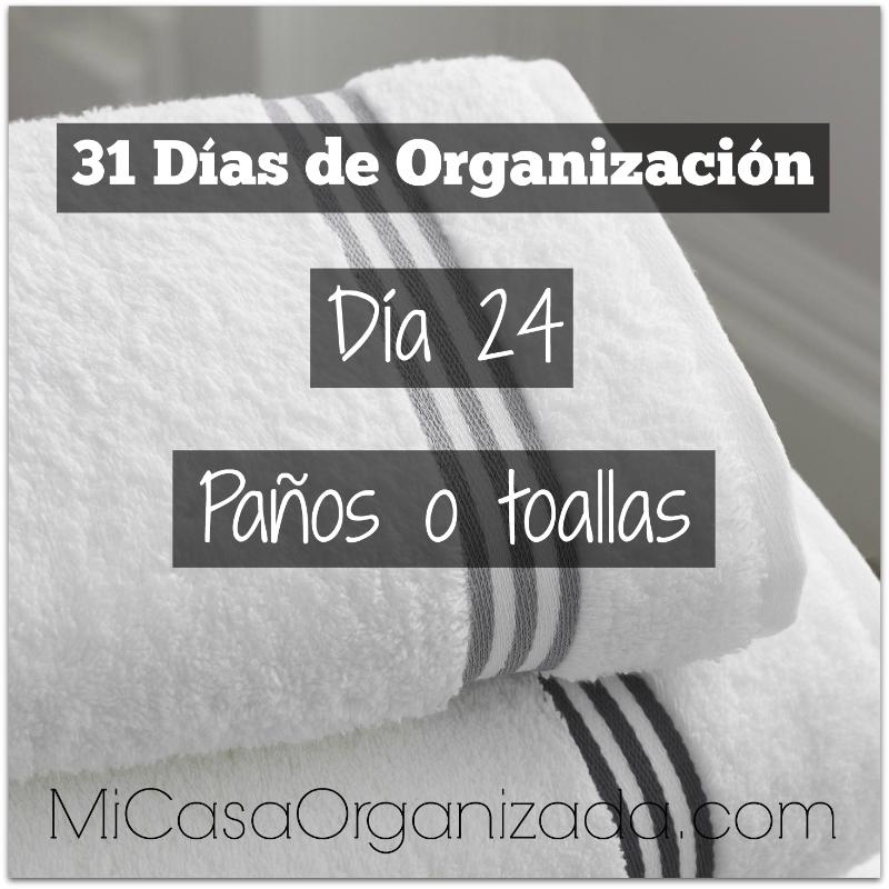 31 días de organización día 24
