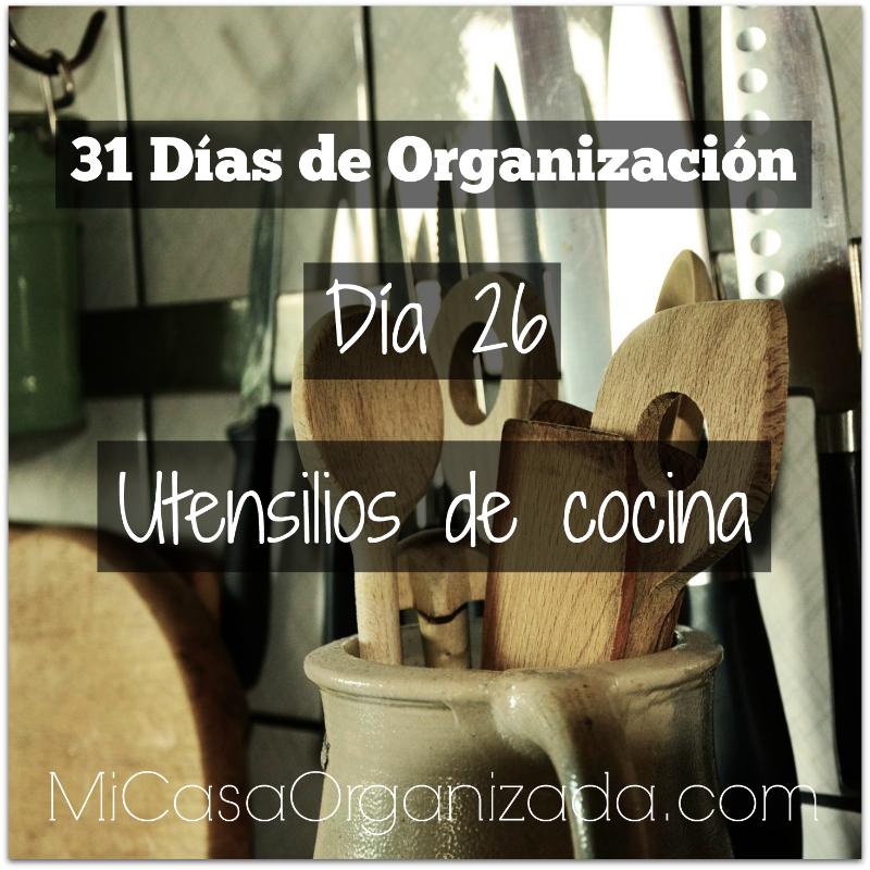 31 días de organización día 26