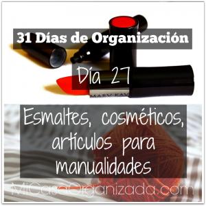 31 días de organización día 27