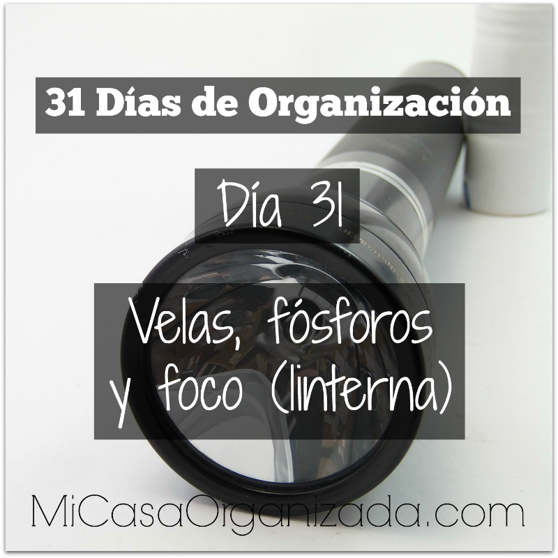 31 días de organización día 31