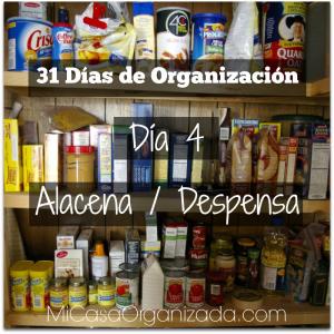 31 días de organización día 4