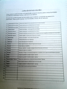 cronograma de tareas de la casa