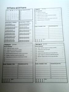 planificador con tareas para el hogar