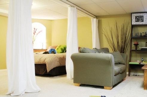 como dividir un estudio con cortina