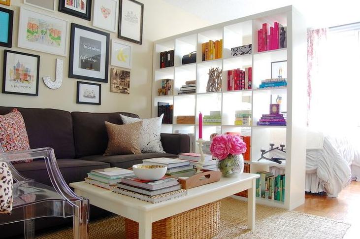 como dividir un estudio con mueble