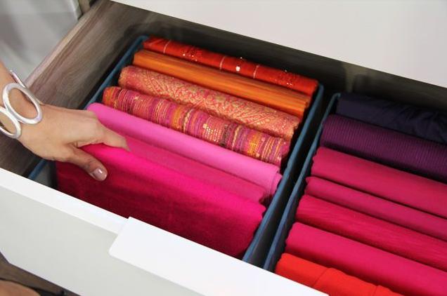 como guardar bufandas