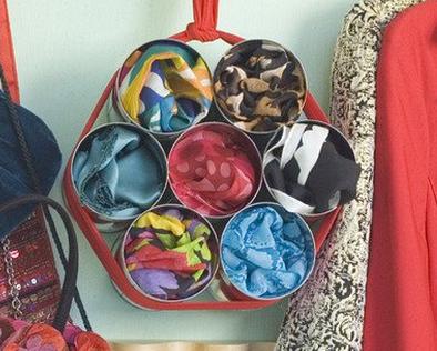 como hacer un organizador de bufandas