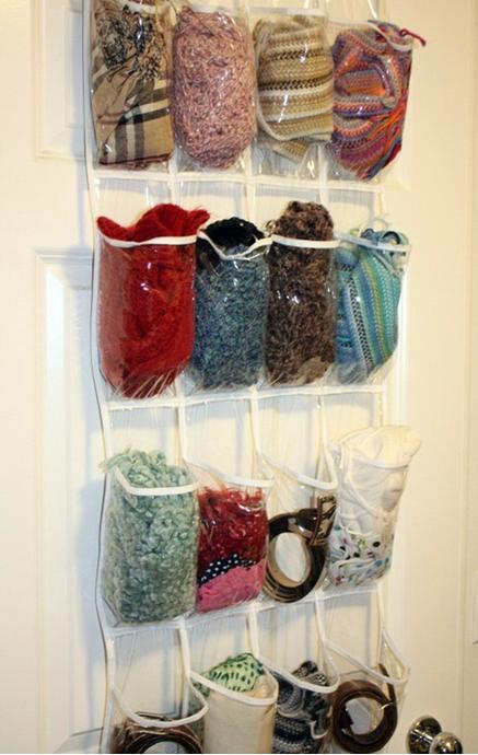 como organizar bufandas facilmente
