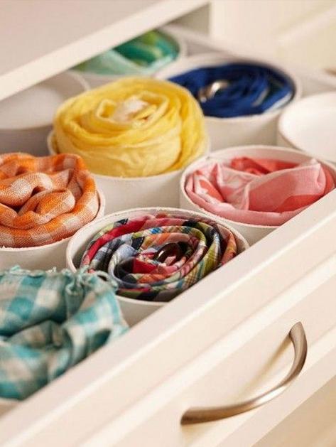 como organizar bufandas hazlo tu mismo