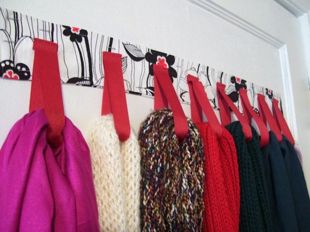 organizador para bufandas