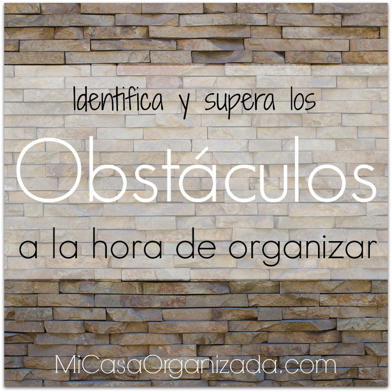 obstaculos a la hora de organizar