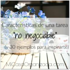 """Características de una tarea """"no negociable"""""""
