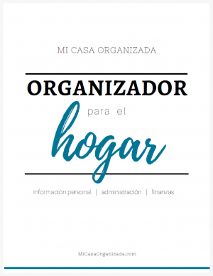 Organizador para el hogar