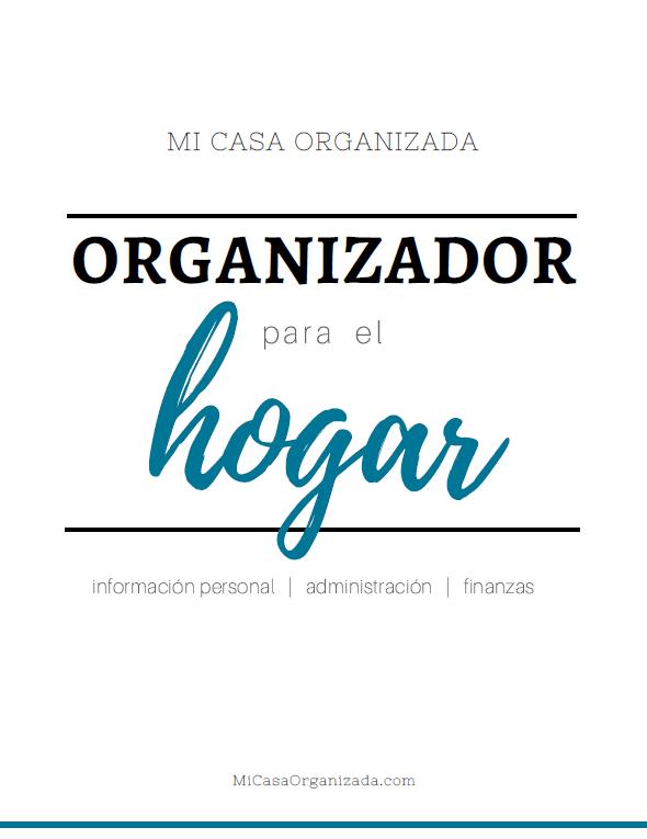 Portada de organizador