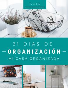 Guía 31 días de organización portada