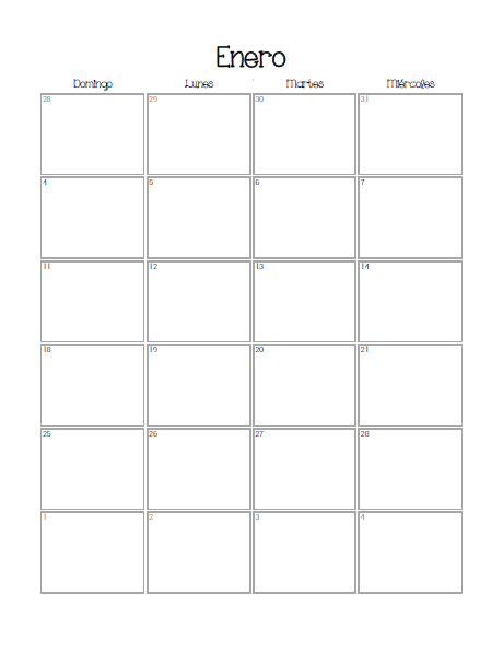 Planificador 2015 calendario mensual