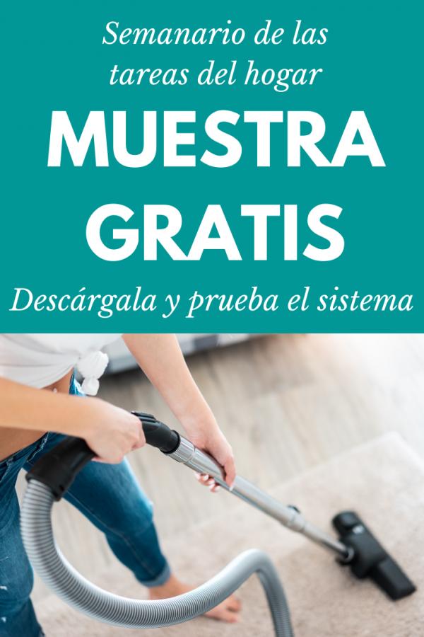 Semanario tareas del hogar 2021 muestra gratis 1 semana