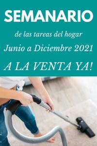 Semanario tareas del hogar 2021 a la venta ya