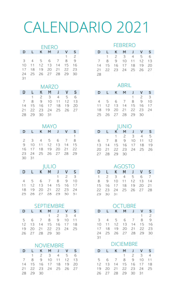 calendario 2021 Agenda Planificador Mi Casa Organizada 2021