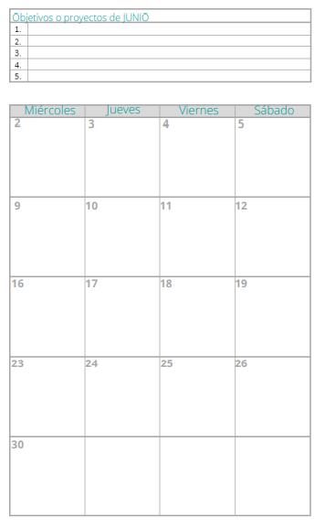 calendario pag 2 Agenda Planificador Mi Casa Organizada 2021